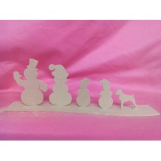 4mm MDF Snowman family  design 2